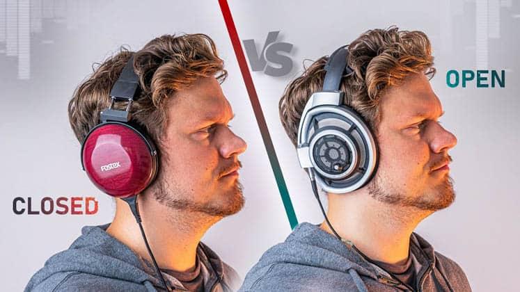 Closed back vs open back headphones