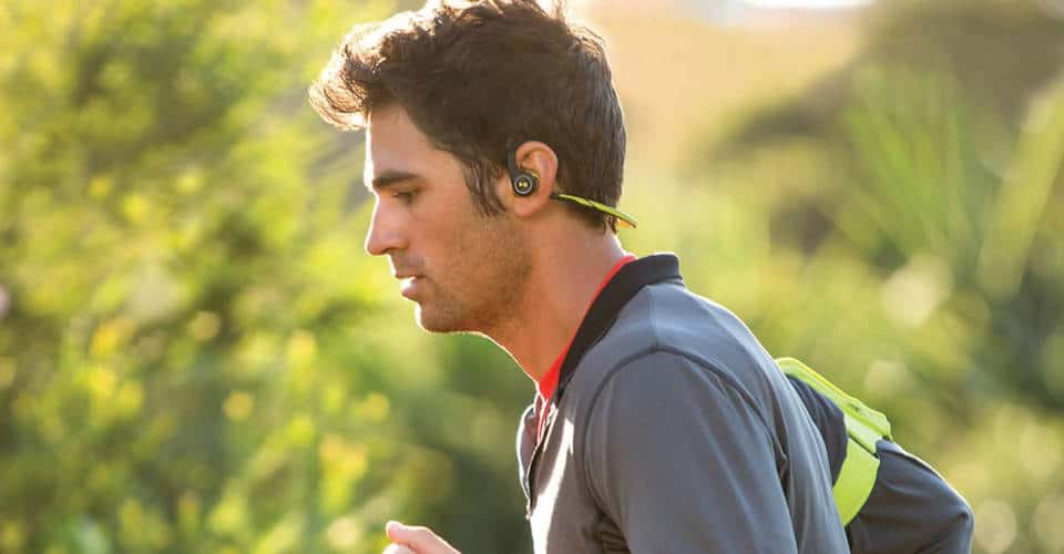 man with running headphones